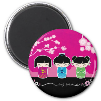 3 Kokeshi magnet