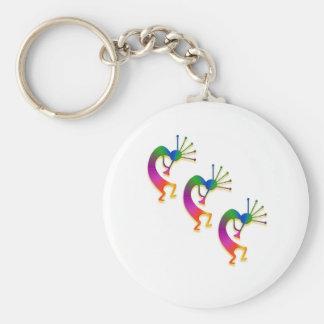 3 kokopelli #33 basic round button keychain