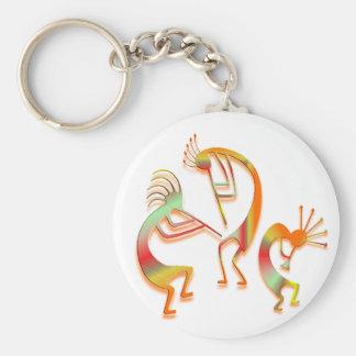 3 Kokopelli #51 Keychain