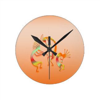 3 Kokopelli #51 Round Clock