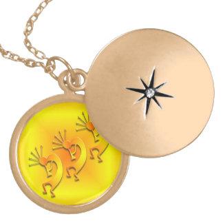 3 Kokopelli #89 Locket Necklace