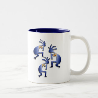 3 Kokopelli #8 Two-Tone Coffee Mug