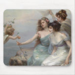 3 Ladies and Angel Mouse Pad