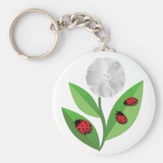 3 Ladybugs Keychain