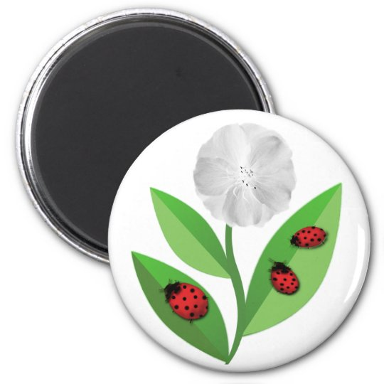 3 Ladybugs Magnet
