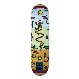 3 Layers of Life Skateboard