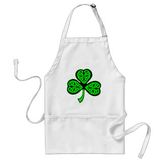 3 Leaf Celtic Clover Shamrock Adult Apron
