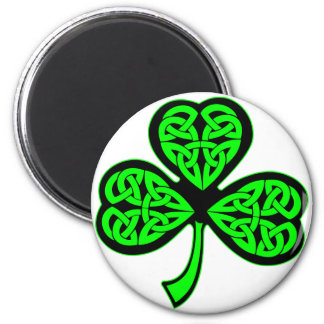 3 Leaf Celtic Shamrock Fridge Magnets