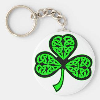 3 Leaf Celtic Shamrock Keychain