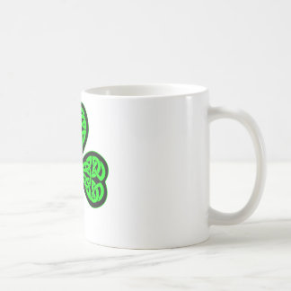 3 Leaf Celtic Shamrock Coffee Mugs