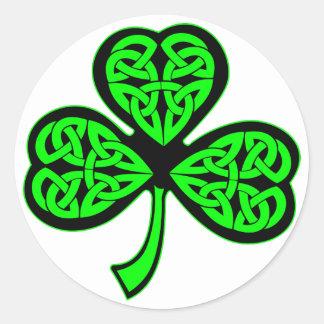 3 Leaf Celtic Shamrock Sticker