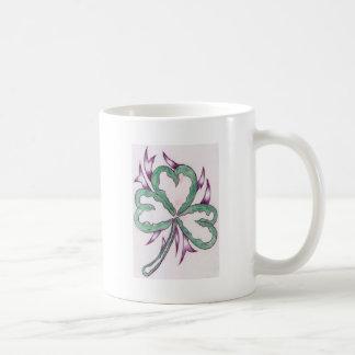 3 leaf clover mugs