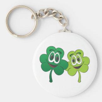 3 Leaf Clover Pair Cartoon Keychain
