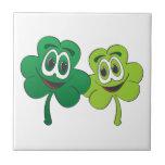 3 Leaf Clover Pair Cartoon Tiles