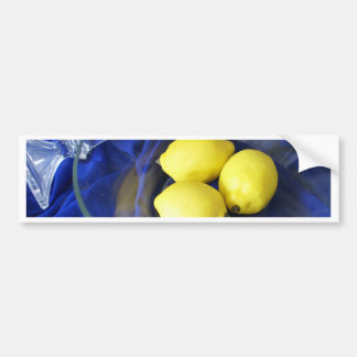 3 Lemons And Candlestick Bumper Stickers