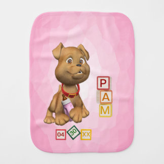 3 Letter Name Version Baby Burp Cloth Customize It