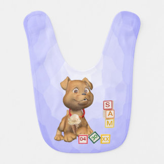 3 Letter Name Version - Customizable - Baby Bib