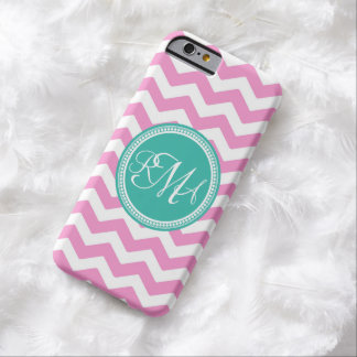3 letter script monogram white text barely there iPhone 6 case
