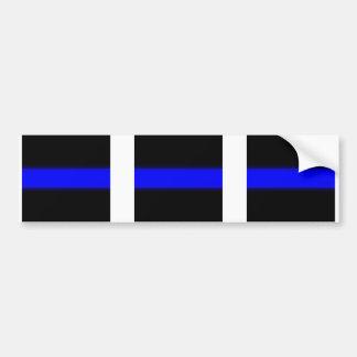 3 línea azul pegatina de la ventana etiqueta de parachoque