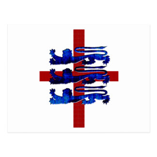 3 lions England St George's flag gifts Postcard