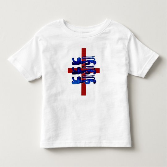 3 lions England St George's flag gifts Toddler T-shirt