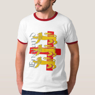 3 Lions on St George's Cross T-Shirt