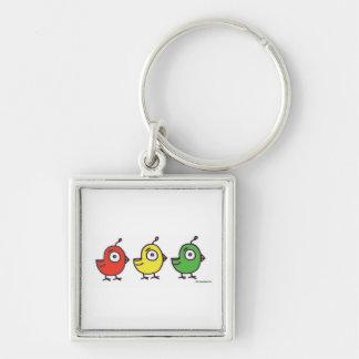 3 Little Birdies Keychain
