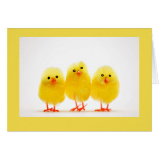 """3 LITTLE CHICKS"" WISH YOU A VERY ""HAPPY EASTER"" CARD"