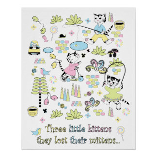 3 Little Kittens Perfect Poster
