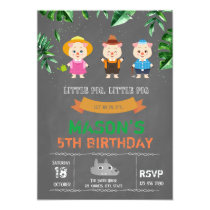 3 little pigs party invitation