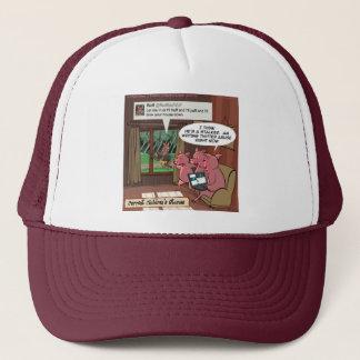 3 Little Social Media Savvy Pigs Trucker Hat