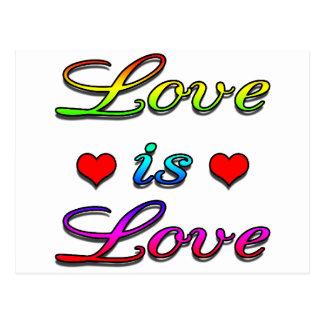 <3 Love is Love <3 Postcard