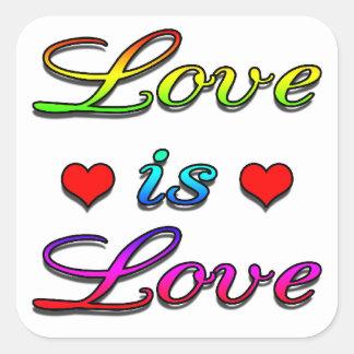 <3 Love is Love <3 Square Sticker
