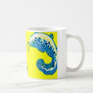 3 Lucky Blue Fish #2 Mugs