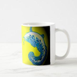 3 Lucky Blue Fish Coffee Mug