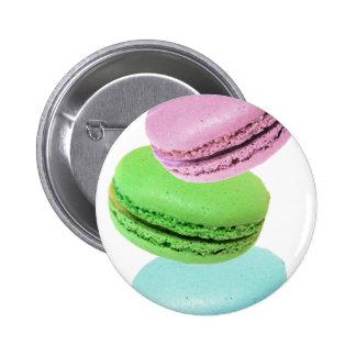3 macarons pinback button