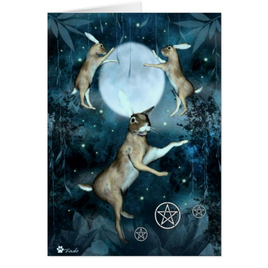 3 March Hares Greetings Card