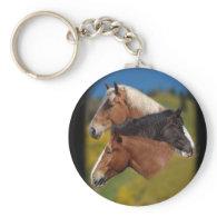 3 mare heads key chain
