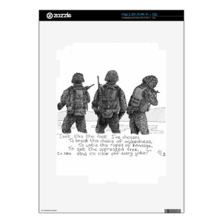3 Marines Decal For iPad 2
