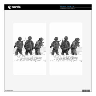 3 Marines Kindle Fire Decals