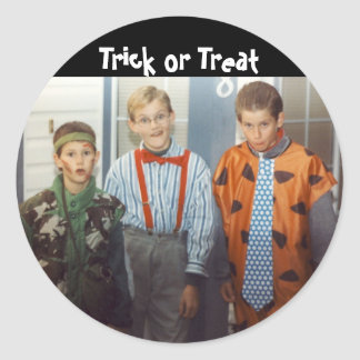 3 marionetas - pegatinas de Halloween Pegatina Redonda