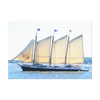 3 masted schooner wrapped canvas