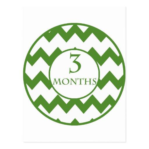 3 meses de jalón de Chevron Postales