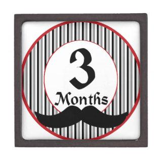 3 meses de jalón del bigote cajas de regalo de calidad