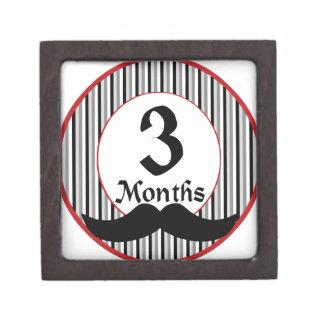 3 meses de jalón del bigote caja de joyas de calidad