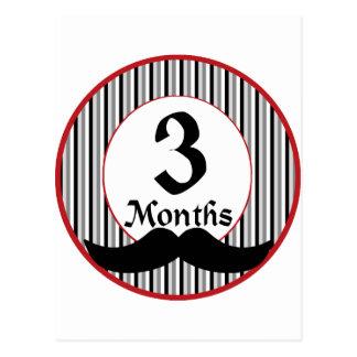 3 meses de jalón del bigote postal