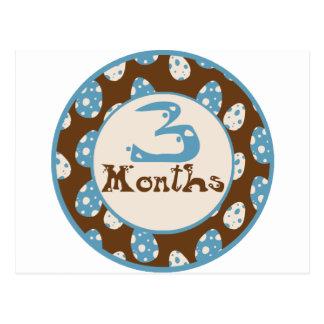 3 meses de jalón del dinosaurio postal
