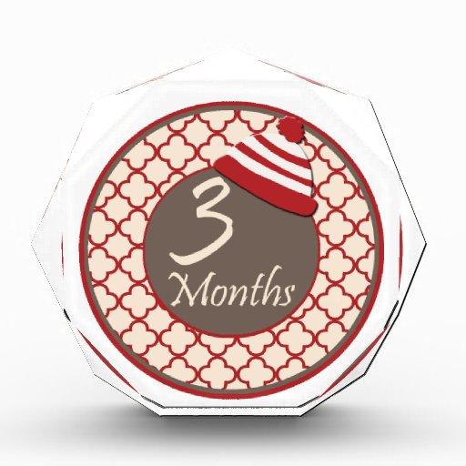 3 meses del calcetín del mono de jalón del gorra