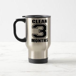 3 meses limpian la taza del viaje del negro y del
