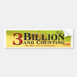 3 mil millones y cuenta de título etiqueta de parachoque